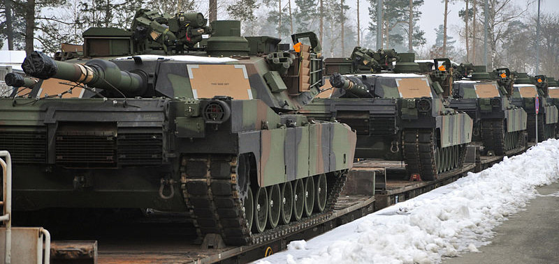 U.S. Army M1A2 Abrams tanks arrive in Germany. Archive photo: US Army